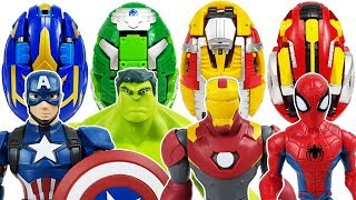 Thanos & Villains are attacking! Go~! Carbot Kung, Avengers, Hulk, Iron Man, Spider-Man, Thor