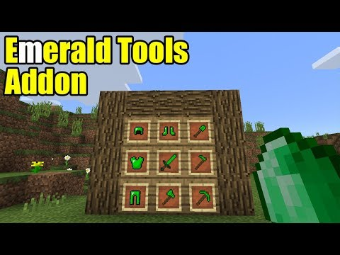 Emerald Tools Addon | Minecraft PE Gameplay Walkthrough