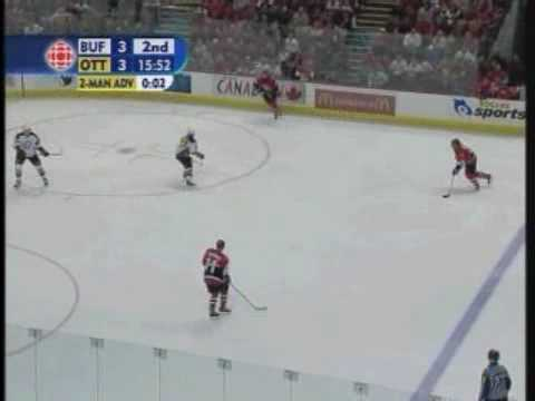 2006 Buffalo Sabres vs. Ottawa Senators Game 1 Playoffs Video