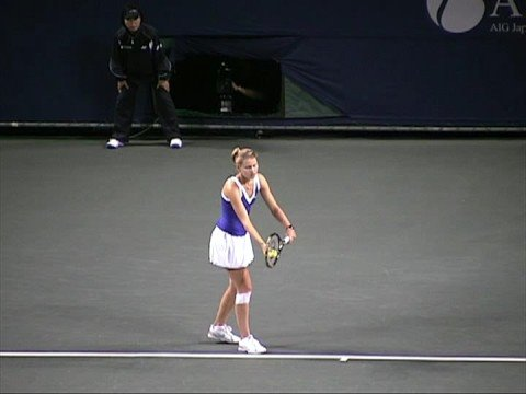 2008 AIG Japan Open R1 Lucie Safarova pt1 Video