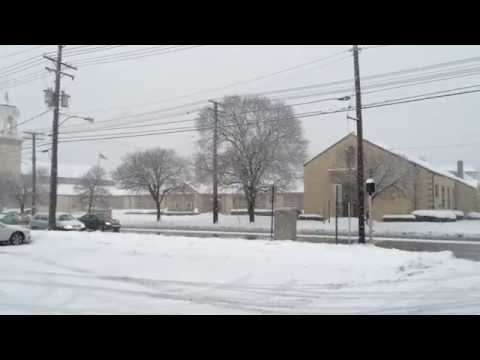 Clevelan, Ohio, Snow winter February 2015