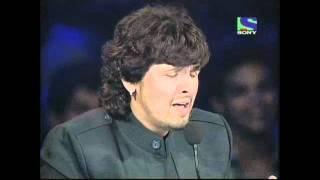 X Factor India - Sonu Nigam does the female part of Aaj Ki Raat- X Factor India - Episode 22 - 29th Jul 2011