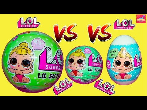 LOL Версус Подделок кукол Лол сюрпризы Лил систерс LOL в яйцах Топ 3 LOL Lil sisters surprise Fake