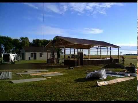 Pole Barn Construction - Hansen Buildings 30' x 40' Custom Pole Building