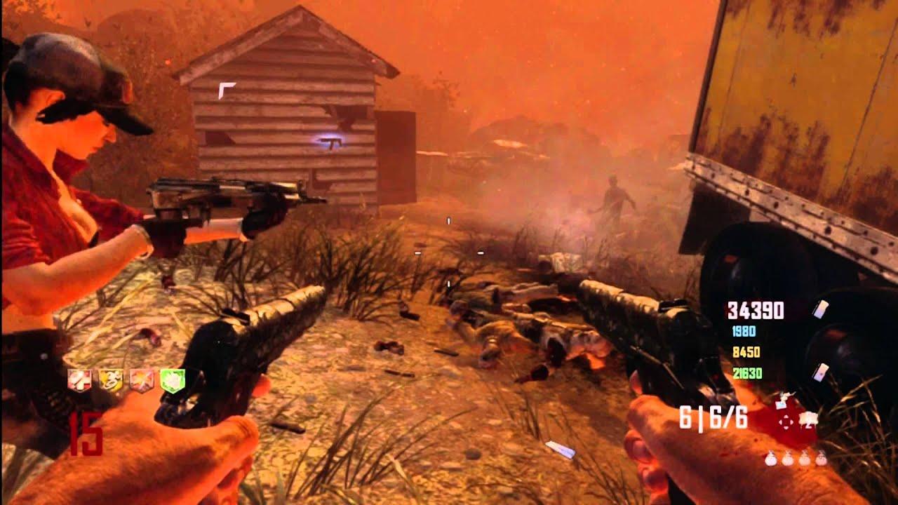 Black Ops 2 Zombies Tranzit Multiplayer Online Gameplay