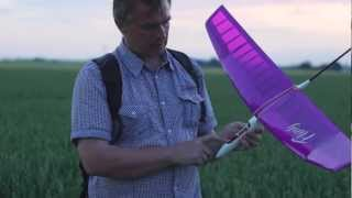 Fling - A small RC glider ENG - An evening flying with high-start (Sony A65)