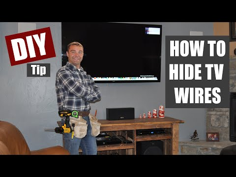 How to Hide TV Wires   Code Compliant TV Wiring
