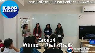 2018 K-pop Academy_주인도한국문화원 보컬 1주차_IndiaKoreanCulturalCenter-Vocal 1st week_Winner-ReallyReally