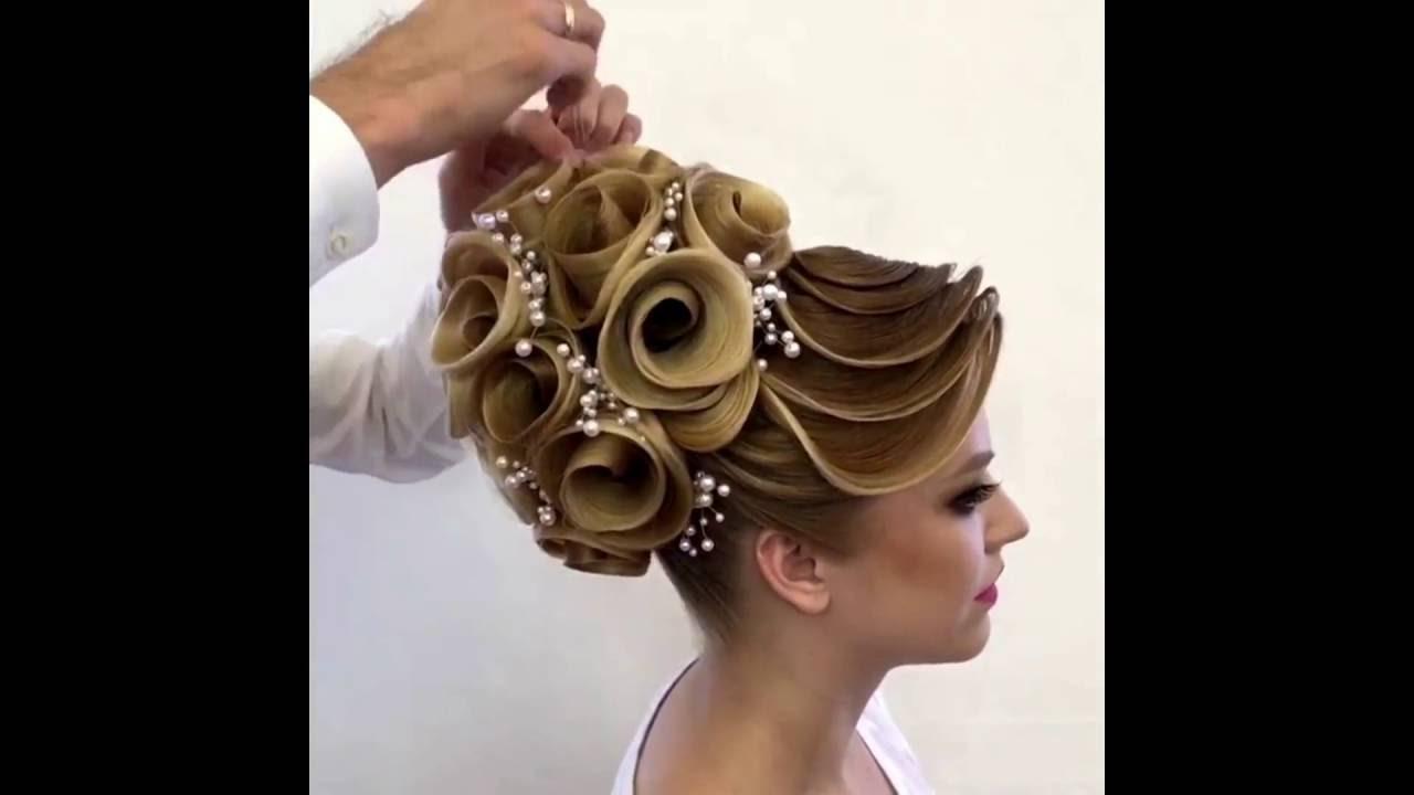свадебные прически видео урок пошагово с цветами