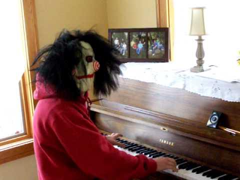 saw theme - piano mask