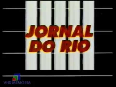 Abertura Jornal do Rio - Rede Bandeirantes (1990)