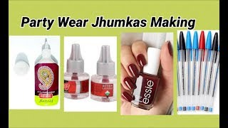 5 DIY party wear jhumkas without jhumka base