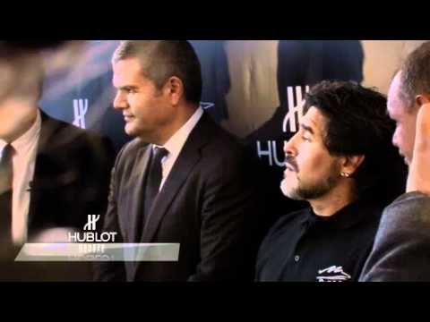 Hublot big bang maradona launch in TSUM