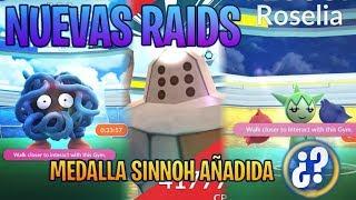 MEDALLA SINNOH (4a GEN) AÑADIDA & NUEVAS RAIDS DISPONIBLES !!!  - Pokemon Go
