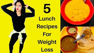 5 Healthy & Easy Lunch Recipes For Weight Loss | South Indian Meals|Weight Loss Tips | Somya Luhadia