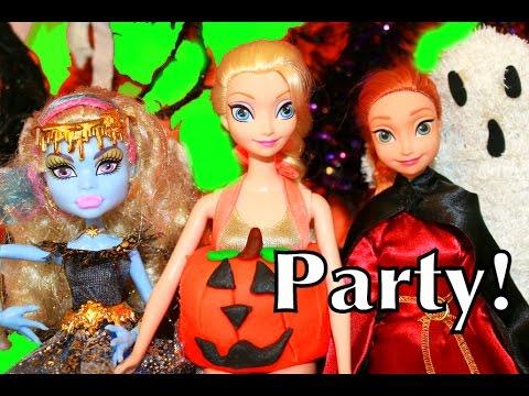 Alltoycollector Play-doh Frozen Monster High Halloween Party Part 1 Disney Princess Anna & Elsa video