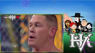 Alberto Del Rio vs John Cena vs CM Punk Hell in a Cell 2011