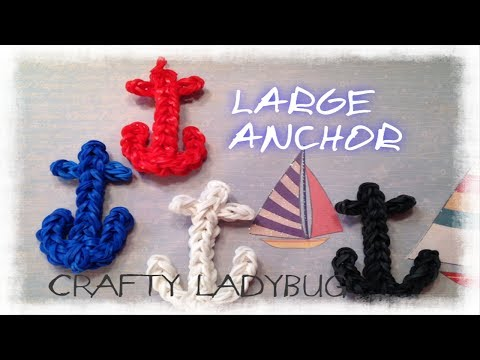 Rainbow Loom ANCHOR CHARM Easy Tutorial by Crafty Ladybug - Wonder Loom and DIY Loom