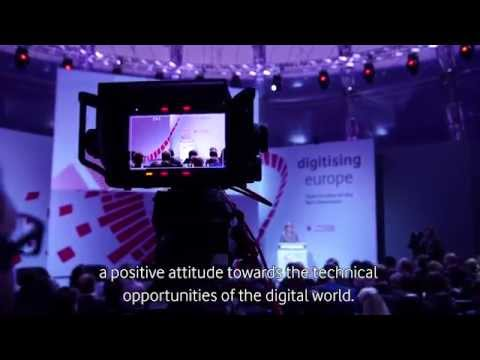 "Impressions of the Vodafone Institute's summit ""digitising europe"""