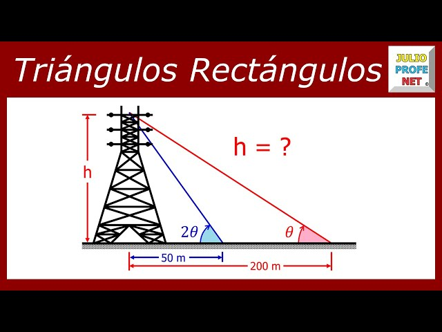 Problema de Trigonometría con Triángulos Rectángulos - Trigonometric problem with right triangles