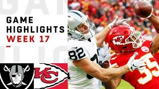 Raiders vs Chiefs Week 17 Highlights | NFL 2018