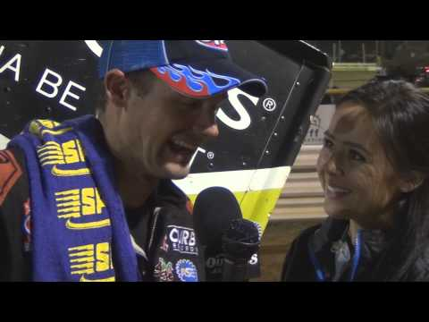 Lincoln Speedway World of Outlaws Victory Lane 7-17-14