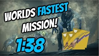 Worlds Fastest Destiny 2 Mission - Ice and Shadow 1:38