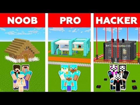 Minecraft NOOB vs PRO vs HACKER : SAFEST FAMILY HOUSE CHALLENGE in minecraft / Animation