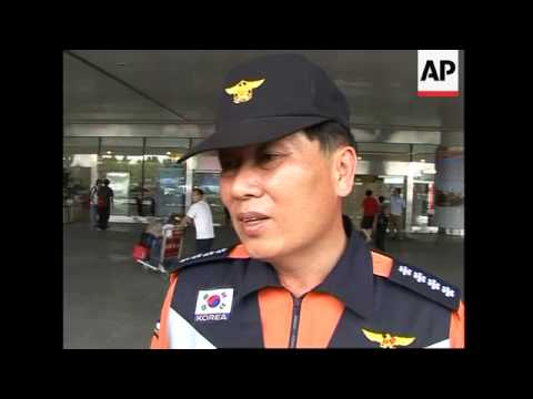 Rescue teams from Japan, South Korea and Singapore arrive in China