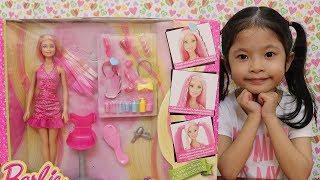 Đồ chơi làm tóc cho búp bê - Giới Thiệu Bộ Đồ Chơi Barbie Làm Tóc.