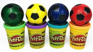 Play Doh Learn Colors with Soccer Balls and Play Doh Toys For Kids