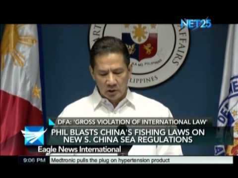Philippine Blasts China's Fishing Laws on New South China Sea Regulation