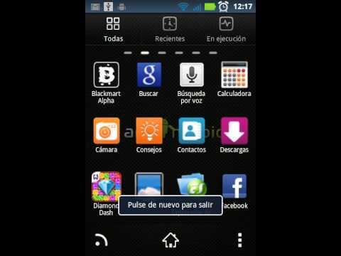 Motorola XT303 Go Launcher y otras aplicaciones