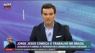 TV i 24h de Portugal fala sobre JJ no Flamengo!