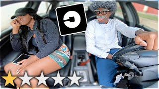 PICKED UP MY GIRLFRIEND UP IN AN UBER UNDER DISGUISE!!! *went terrible*