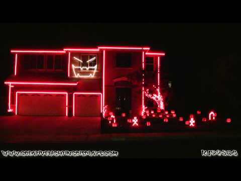 Halloween Light Show 2012 - Gangnam Style Music Videos