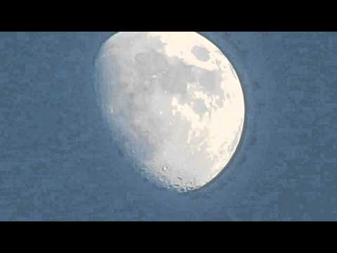 Canon SX40 HS zoom test - moon