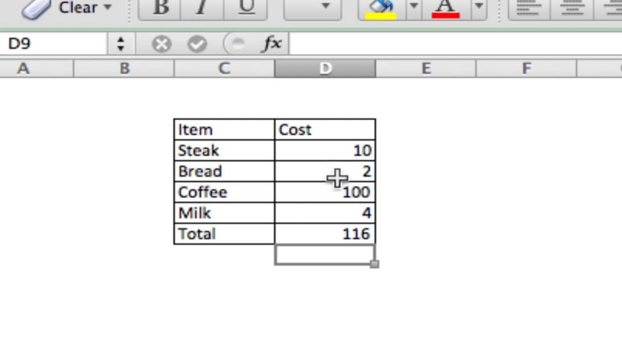 how to add sum in excel for category