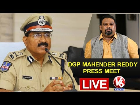 Kathi Mahesh Expulsion From Hyderabad | DGP Mahender Reddy LIVE Press Meet | V6 News