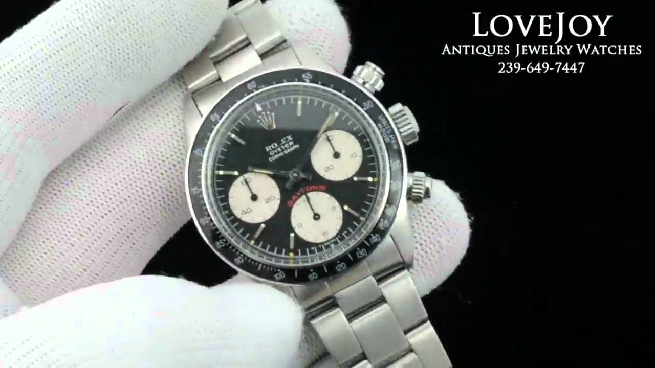Rare Vintage Rolex Datyona Paul Newman 6263 Stainless ...