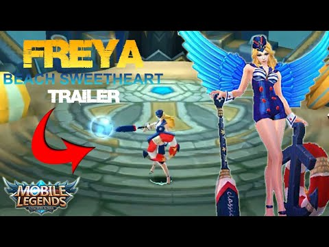 Mobile Legends - Freya New Skin Beach Sweetheart Official Trailer (First Look in Game)