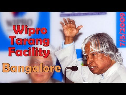 APJ Abdul Kalam Inaugurated Wipro Tarang Facility, May 7 2009