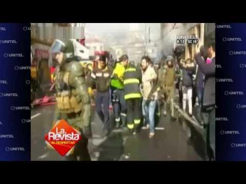 Hombre muere en medio de protestas contra Michelle Bachelet