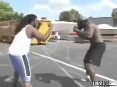 CRAZY FIGHT STREET FIGHTS     KIMBO SLICE vs DREADS  kimbo vs high school bully Image 1