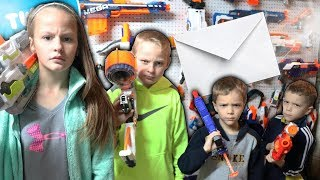 Nerf War:  Mail Time Mayhem 30 Big Announcement