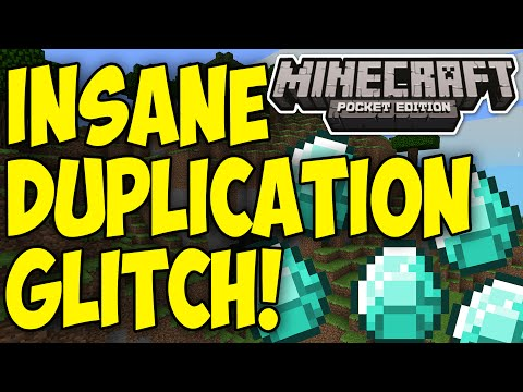 Minecraft Pocket Edition : INSANE DUPLICATION GLITCH!   GET INFINITE ITEMS EASILY!! [0.9.5]