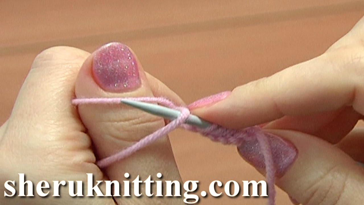 How To Cast On Knitting Stitches Using The Thumb Method : Thumb Cast On Method Knitting Tutorial 1 Method 9 of 18 Knitting For Beginner...