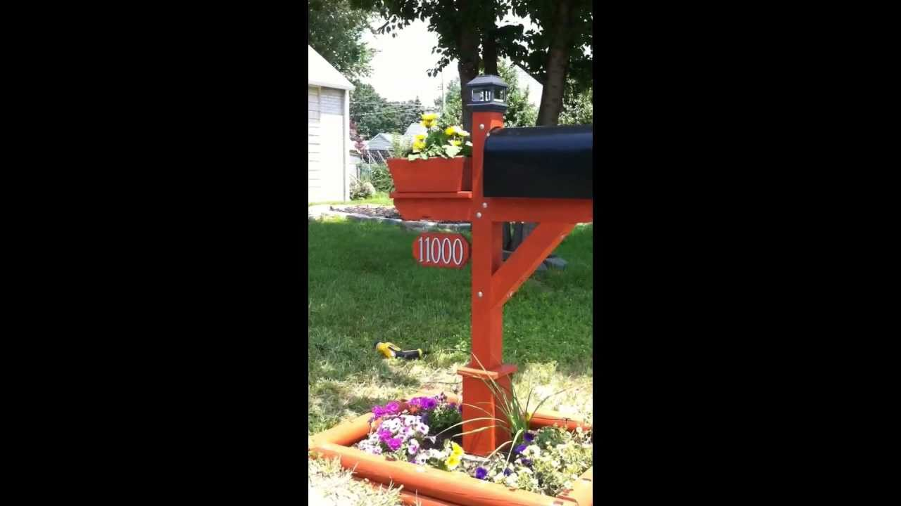 How To Build A Mailbox Post Youtube