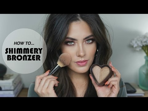How to apply shimmer bronzer makeup for beginners makeup 101 how to apply a shimmery bronzer quick tip tuesday melissa alatorre ccuart Images