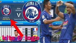 Dream League Soccer 2019 How To Import Arema FC Kits & Logo 2019